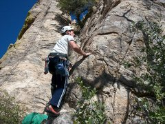 Rock Climbing Photo: onsighting new years day