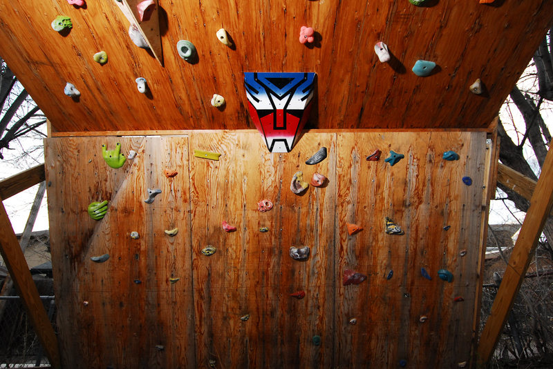 Optimus owns my climbing wall.