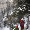 Orient Bay, Ontario. Steve and Dimitri at the end of first pitch of Go Mar, 2 Feb '10<br>