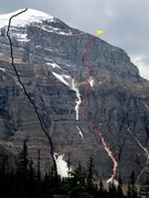 Rock Climbing Photo: Red line is Greenwoode/Locke