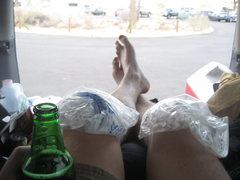 Rock Climbing Photo: After my first fall involving a blown piece