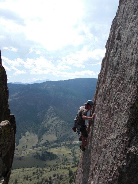 Rock Climbing Photo: Kevin, the Monestary