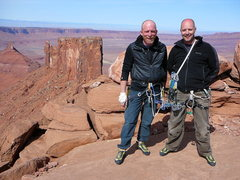 Rock Climbing Photo: Rick Thalacker and Kevin Presley, Castleton Summit