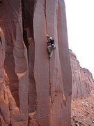 Rock Climbing Photo: Rick Thalacker some where up Long Canyon.