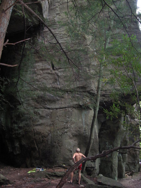 Rock Climbing Photo: Sizing up my first 9