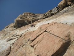 Rock Climbing Photo: Nearing first belay