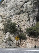 Rock Climbing Photo: Climbing in the Angeles Crest before the fire