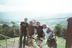 Huge zipline over the cloud forest.. Monteverde, Costa Rica