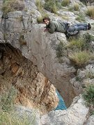 Rock Climbing Photo: the hole....we rap in, climb out (3 pitches, 5.10b...