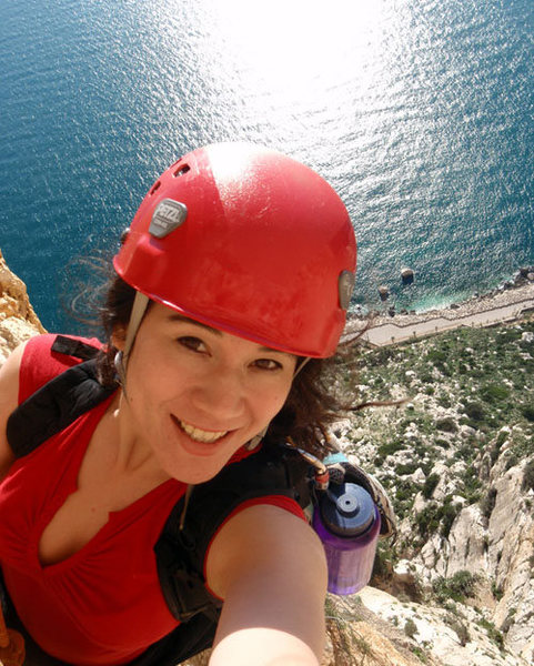 "6 sweet pitches on ""Via Costa Blanca"" route.  5.11 on the Penon de Ifach"