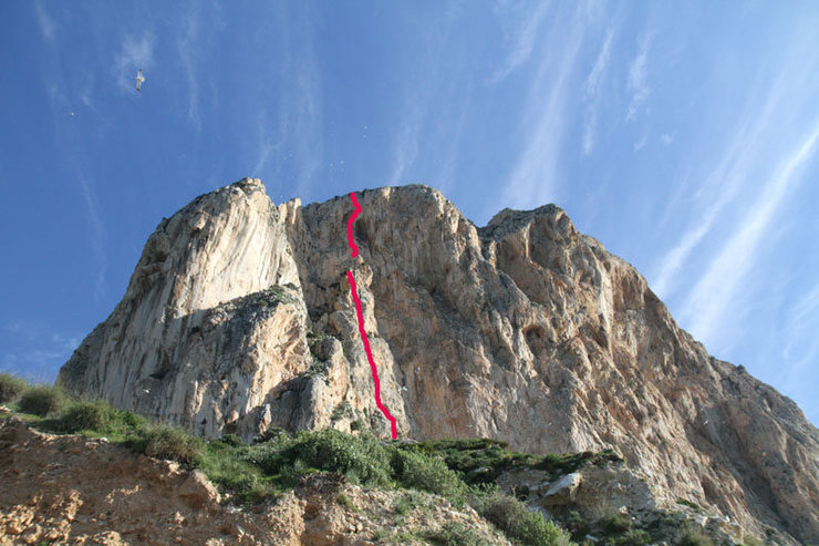 """Costa Blanca"" on the Penon de Ifache.  Classic Route."