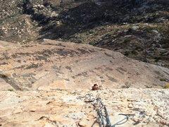 Rock Climbing Photo: Austria following on Buffalo Brothers, Ramp below