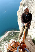 Rock Climbing Photo: Parter Steve from the UK I met at the Orange House...