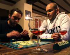 Rock Climbing Photo: I seriously miss these evenings.  Wine and Scrabbl...