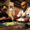 I seriously miss these evenings.  Wine and Scrabble with random strangers from all over the world.