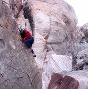 Rock Climbing Photo: scrambling around in Calico