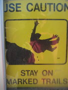 Rock Climbing Photo: I have no words for this sign...well, other than &...