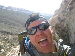 Rock Climbing Photo: me - super stoked to finally be up on the belay st...