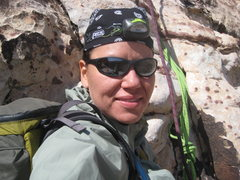 Rock Climbing Photo: freezing once again on P2 of Group Therapy...but s...