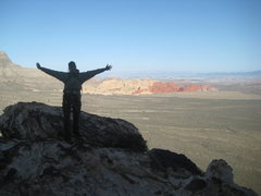 Rock Climbing Photo: me at the summit, arrived right behind Nate...supe...