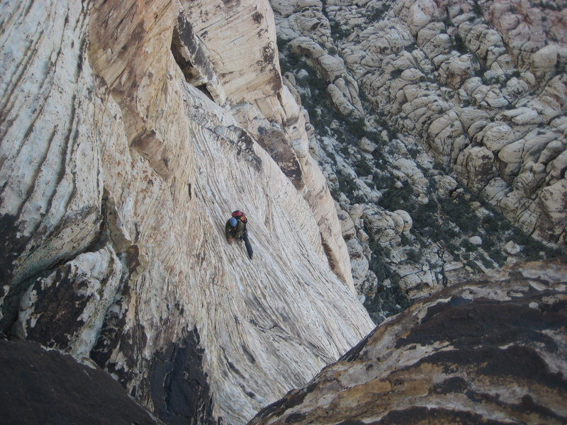 this is Albert on his way up P5 (Group Therapy)