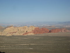 Rock Climbing Photo: View across the valley, Red Rocks, NV with the Las...