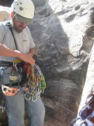 Rock Climbing Photo: Nate gearing up on Sunday morning for our climb on...