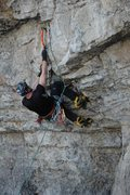 Rock Climbing Photo: Grunting up the evility on a warm, late-winter day...