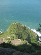 Rock Climbing Photo: Looking down at the climb from above the 5.6 secti...