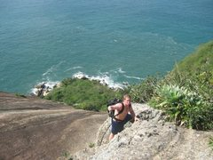 Rock Climbing Photo: This is where we told V ( who had never climbed an...