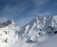 """Rock Climbing Photo: This is a ski run in the Chugach called """"Hot ..."""
