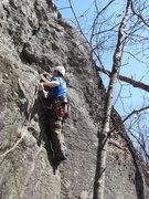Rock Climbing Photo: Zach leading the pet
