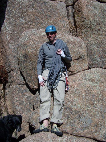 Rock Climbing Photo: At Turkey Perch April Fool's Day 2010
