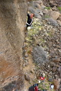 Rock Climbing Photo: Kevin on his first red point of Wailing Banshees. ...