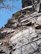 Rock Climbing Photo: P1 Double Overhang
