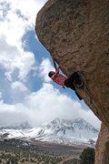 Rock Climbing Photo: Andrew Thomas on 'This Side of Paradise' v10, Bard...