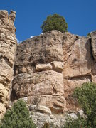 Rock Climbing Photo: The Blarney Stone climbs the line just left of the...