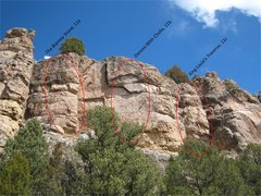 Rock Climbing Photo: The Blarney Stone is the left-most line.