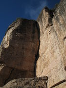 Rock Climbing Photo: Cash in the Vault climbs the right wall of the dih...
