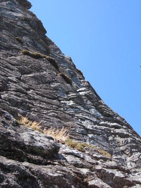 Rock Climbing Photo: First pitch of My Route.