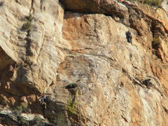 Rock Climbing Photo: Dave and Joaquin simul-following P.5  photo by Kev...
