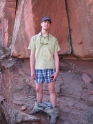Rock Climbing Photo: What's a guy to do on a hot day in the desert?