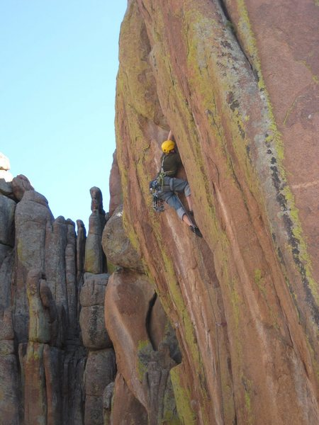Rock Climbing Photo: Enjoying great hands jamming on Quivering Quill.