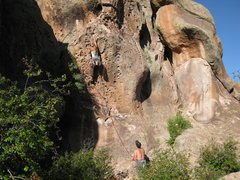 Rock Climbing Photo: pulling huecos in Penitente