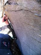 Rock Climbing Photo: Steve Lovelace testing his fingers on the start of...