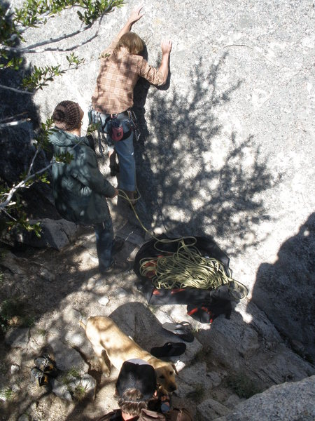 """Rock Climbing Photo: Brad at the start of """"Vote for Pedro"""""""