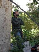Rock Climbing Photo: Dave at the base.
