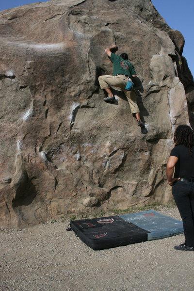 Albert on boulder 1.  4-3-10