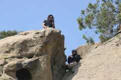 Rock Climbing Photo: Albert and Roger setting up the top rope for Potho...