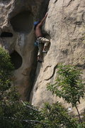 Rock Climbing Photo: Albert Potholes Crack.  4-3-10